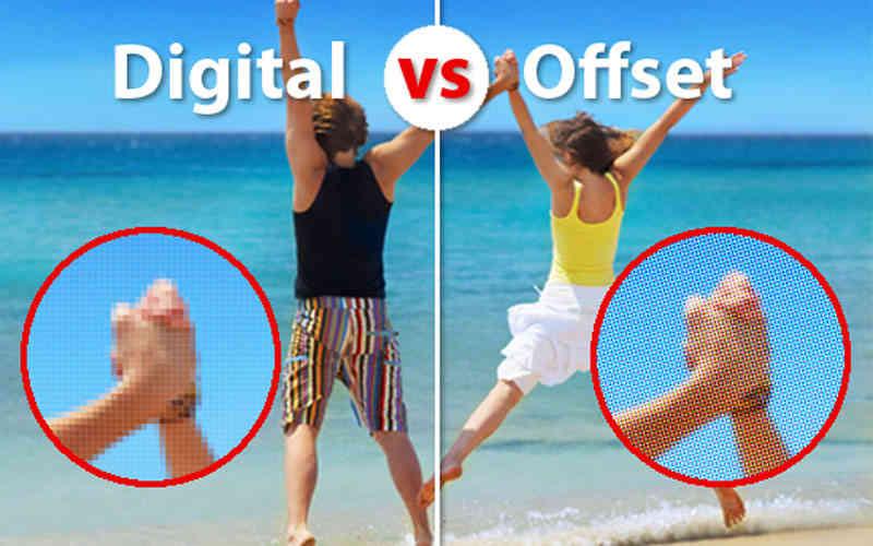 чем отличается офсетная и цифровая печать