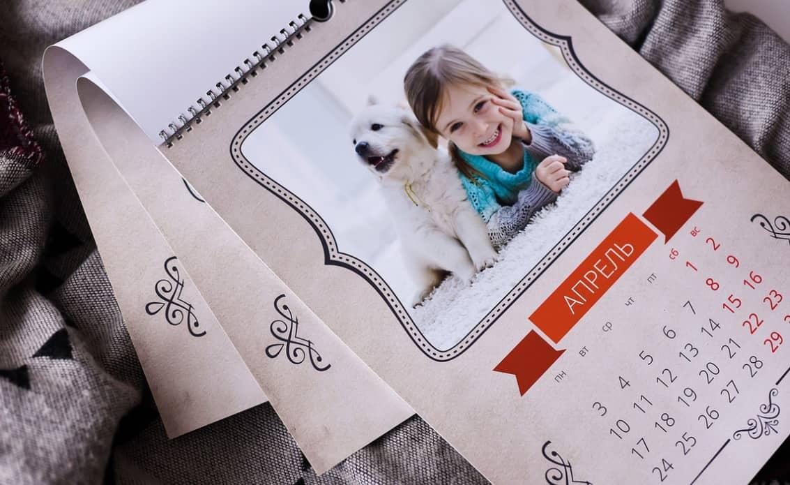 Печать календарей формата А4