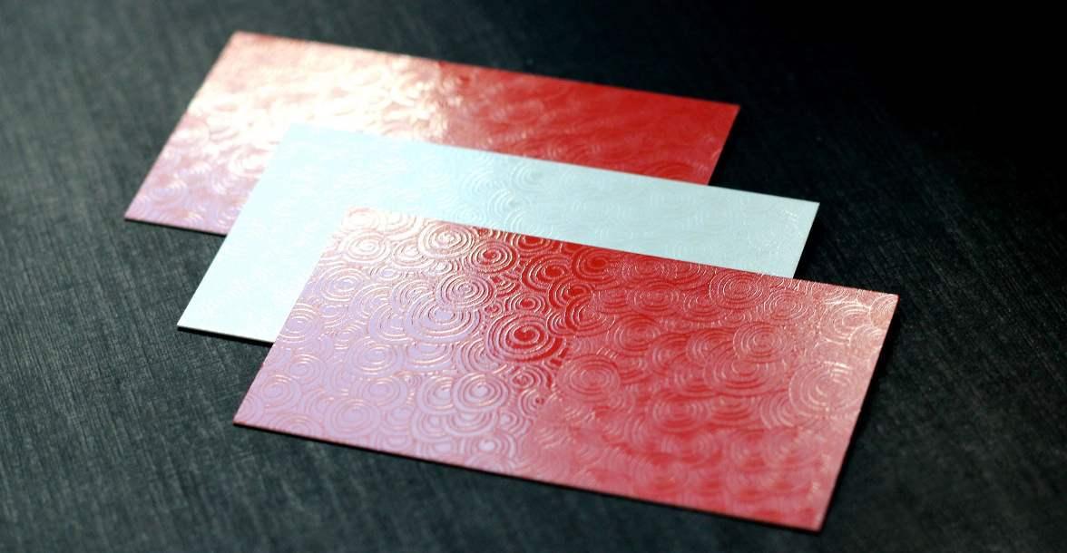 Ламинированные визитки