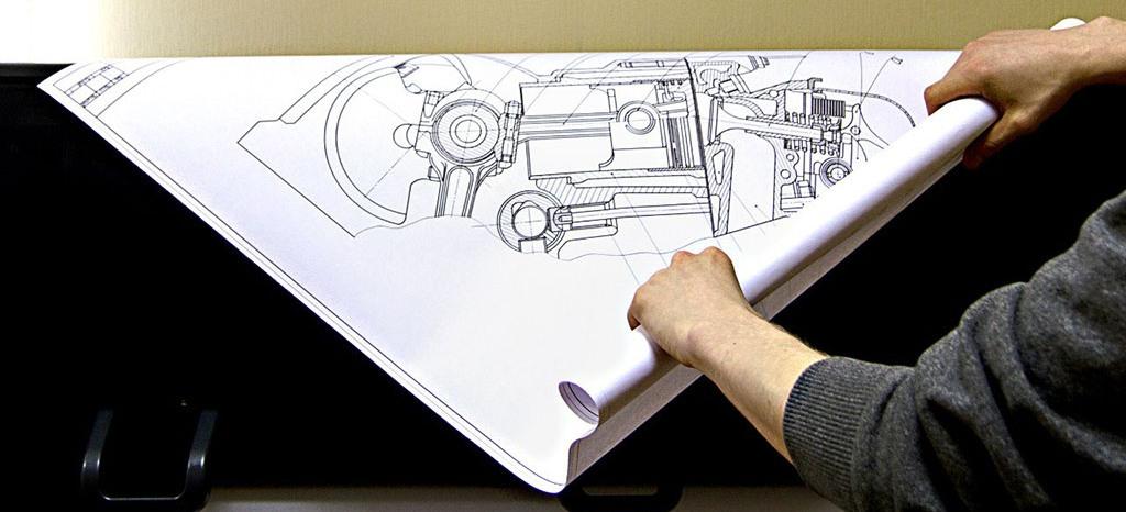 печать чертежей а0